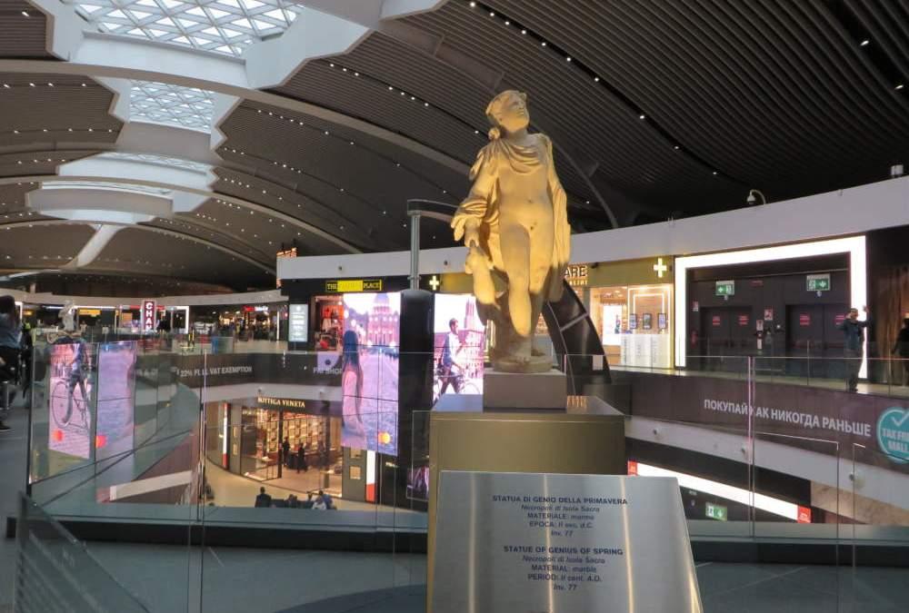 Fiumicino, inaugurata all'Aeroporto la mostra del parco di Ostia Antica