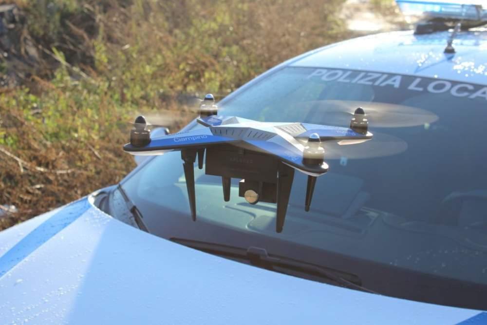 Civitavecchia, la Polizia Locale ovvia alla mancanza di personale con il drone