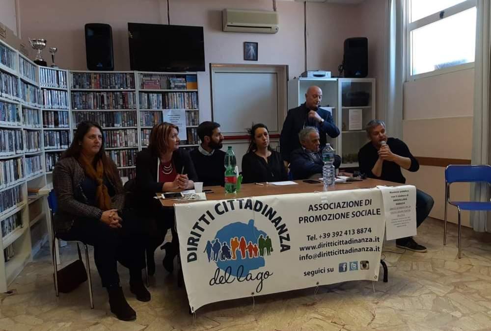 Diritti cittadinanza del lago: riunione pubblica a Ponton dell'Elce