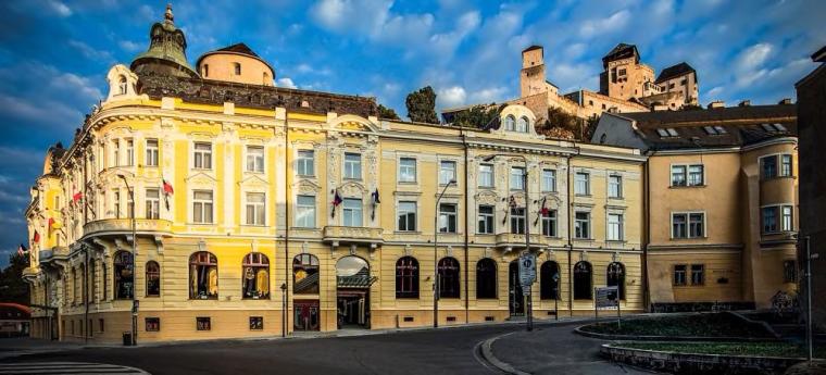 komlexná rekonštrukcia strechy hotel Elizabeth Trenčín (bývalý hotel Tatra): nový strešný krova nová plechová krytina - rok 2011
