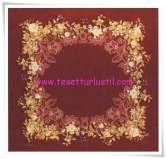 Armine 2015 kenarları çiçek ve dantel desenli eşarp-4514