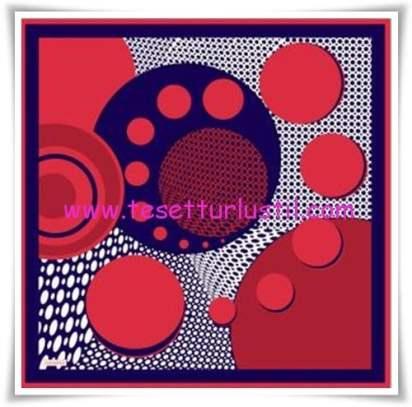Armine geometrik desenli eşarp-4167
