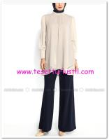 Lacivert zincir kemerli pantolon-Soral-80 TL