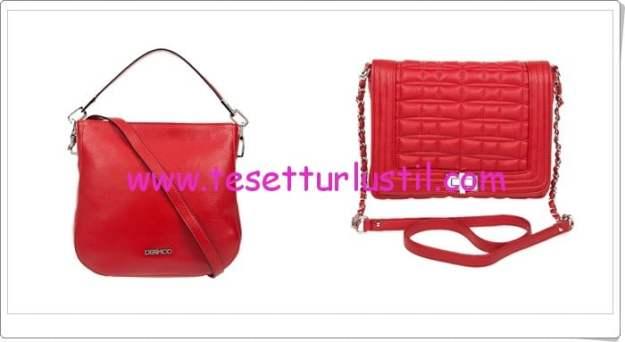 Derimod kırmızı kol çanta modelleri
