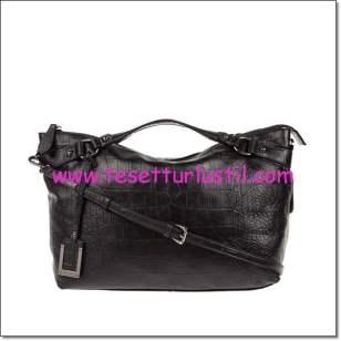 Derimod siyah kroko çanta modelleri-244,50 TL