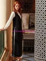 Kayra-iki renkli elbise siyah