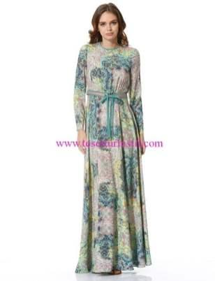 Kayra-uzun desenli elbise