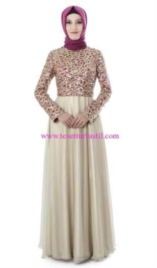 setrms gold-fuşya abiye elbise
