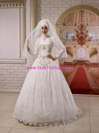 osmanlı moda-OG1505-tesettür gelinlik