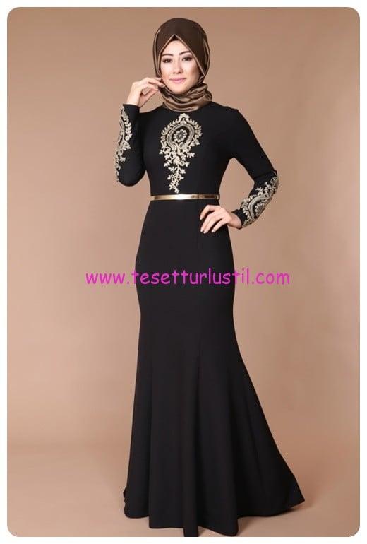 bfbfe00c818d7 ModaSelvim Tesettür Balık Abiye Elbise Modelleri | Tesettürlü Giyim ...