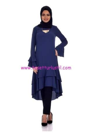 kolyeli-firfir-detay-elbise-4089-petrol-kiraz giyim