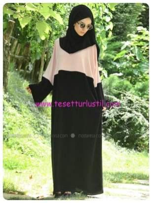 medine-elbise-ferace-somon-siyah-gabra