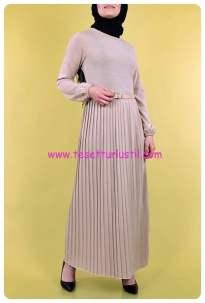 kemerli-piliseli-triko-elbise-5029-bej-56 TL