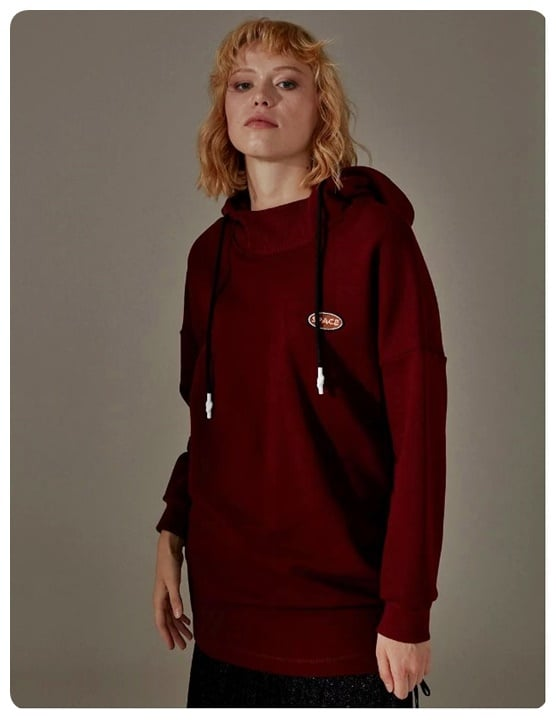 bordo-kapusonlu-sweatshirt