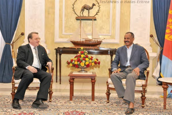 President Putin's Special Representative  for the Middle East and Deputy Foreign Minister Mr. Mikhail L. Bogdanov held bilateral talks with President Isaias in Asmara