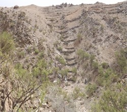 Pic-1: Nakfa, Eritrea. Terracing around the micro dam