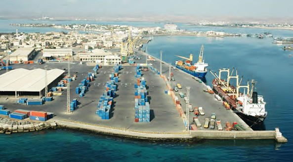 Arial view of Eritrea's Massawa Port