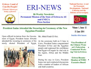 Eritrean Mission to the AU and UNECA released Eri-News 1.18