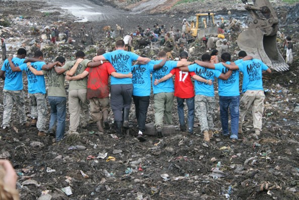 Korah dump site in Addis Ababa.  Awareness campaign to help the thousands of Addis Ababa residents that survived from the garbage