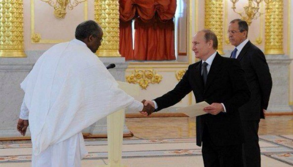 """""""We are building up our relations with Eritrea. We share similar approaches towards current issues on the international and regional agendas and seek to develop our trade and economic ties."""" - President Vladimir Putin"""