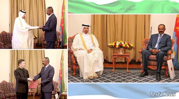New Chinese and Qatari Ambassadors to Eritrea