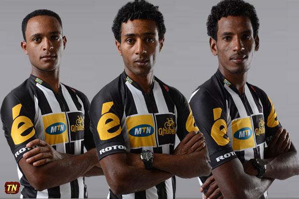 Eritrean riders within team MTN-Qhubeka