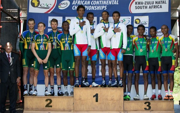 Team Eritrea Wins the 2015 African Continental Cycling Championships TTT