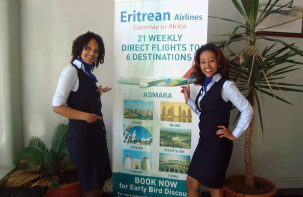 Eritrean Airlines - 23 Direct Weekly Flights to 7 Destinations