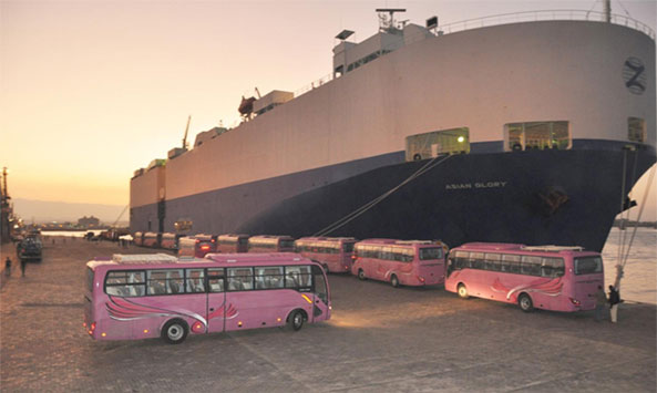 Additional Modern Buses and Machinery Arrive