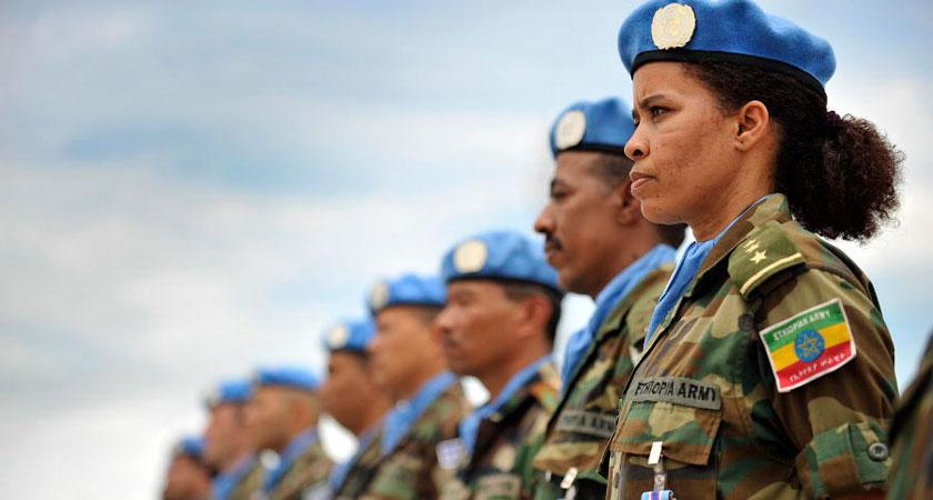 Ethiopian troops in AMISOM uniform
