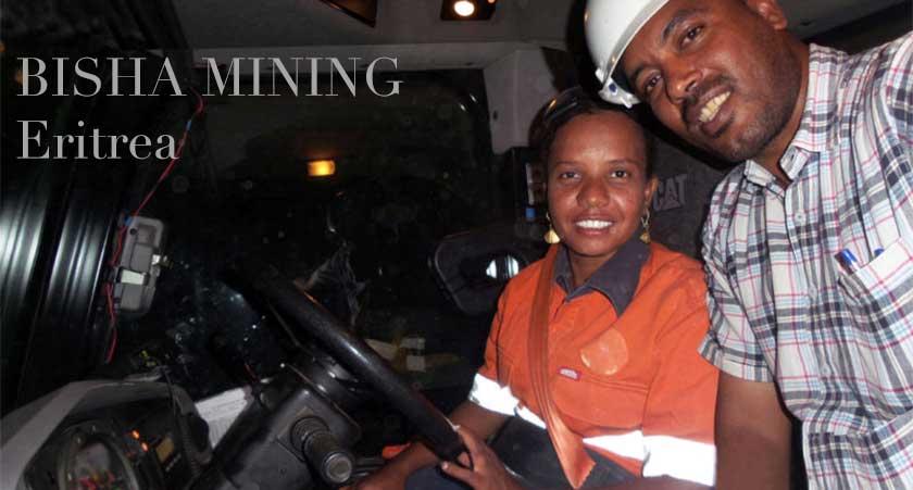 halima female Bisha mine truck operator