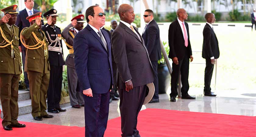 Egypt President Arrives in Uganda for One-day Visit
