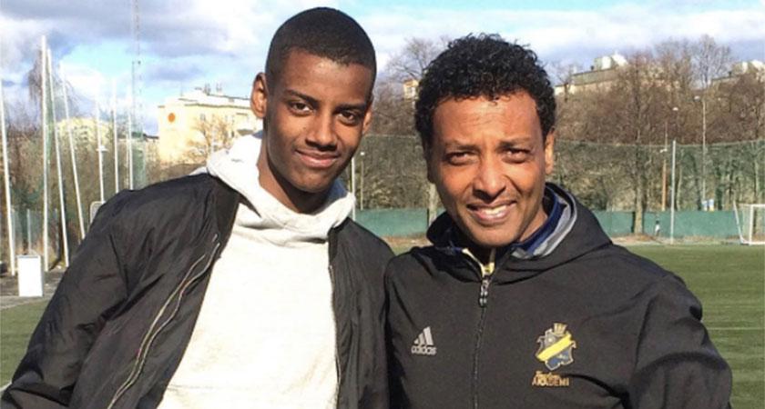 Nahom Ghidey with Alexander Isak