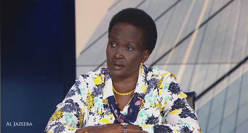 South Sudanese politician Rebecca Garang calls President Kiir to step down