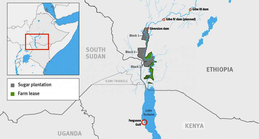 Ethiopian dams and sugar plantations threaten Kenyan lives
