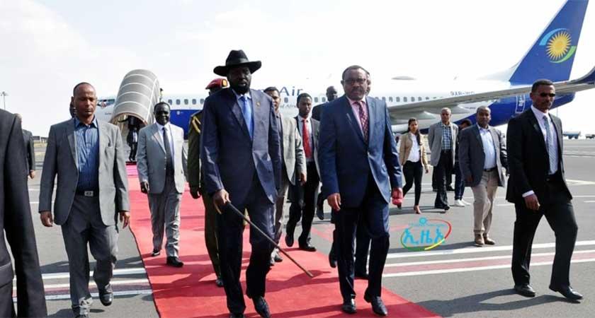 President Salva kiir in Ethiopia for Security Talks