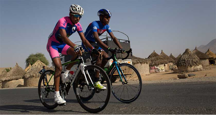 Eritrea was looking out at the world through the window of cycling
