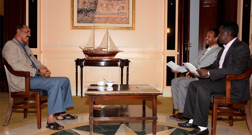 Eritrean President Isaias Afwerki Jan 14 interview