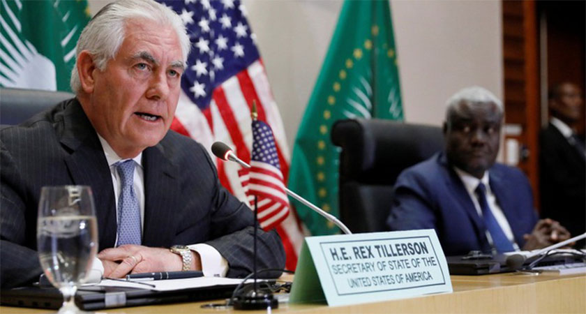 U.S.' Tillerson says African countries should weigh Chinese loans carefully