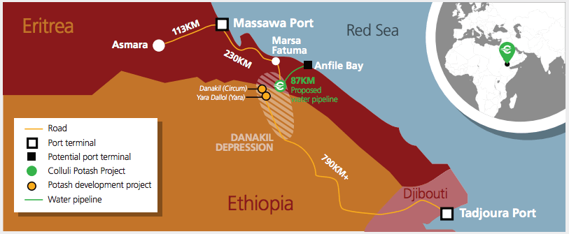 Eritrea Plans Building New Port for Potash Exports