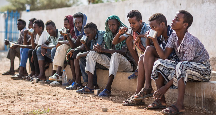 Close to 99,000 mostly Ethiopians arrived on Yemen's Red and Arabian Sea coasts last year, up from 65,000 in 2013.