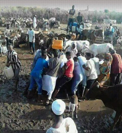 Sudanese come to blows at a Kordofan water point