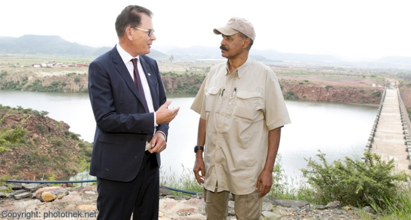 Gerd Müller in conversation with President Isaias Afwerki