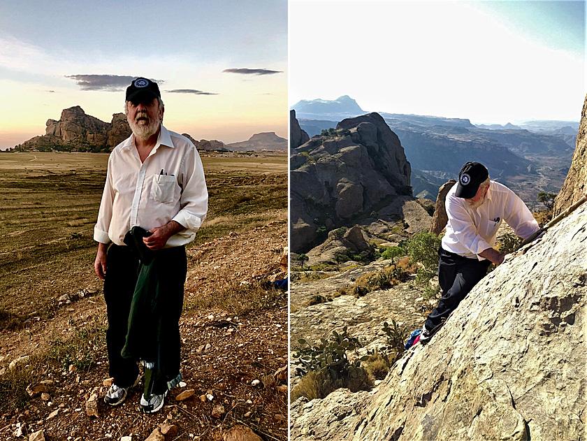 Paul Mahaffy climbing Emba Matara