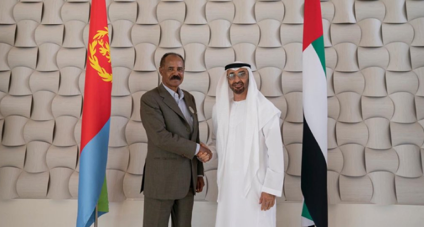 President Isaias Afwerki held talks with Crown Prince Sheikh Mohammed bin Zayed Al-Nahyan
