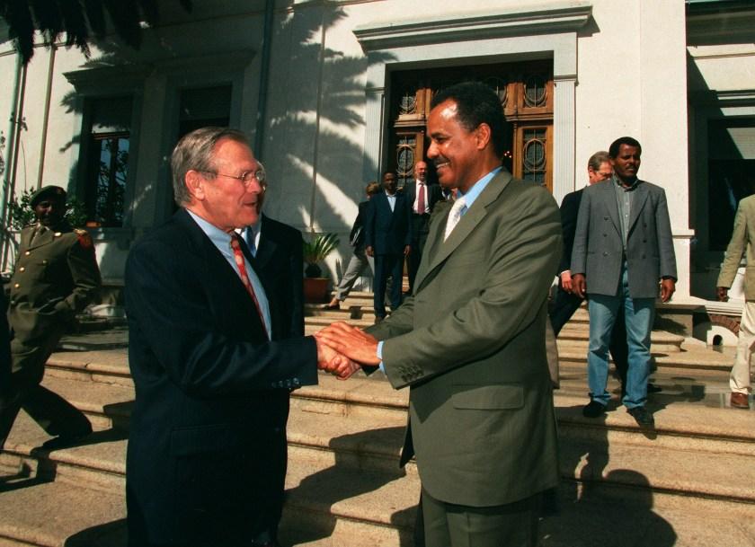 Secretary of Defense Donald H. Rumsfeld in Eritrea