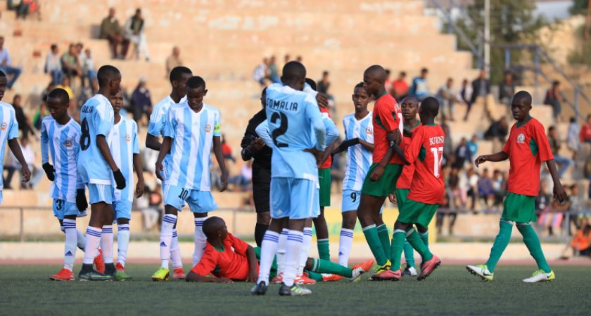 cecafa U-15 day 3 match was between Somalia and Burundi. Burundi wins.