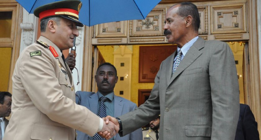 Saudi Coalition Forces Commander Meet Eritrea President