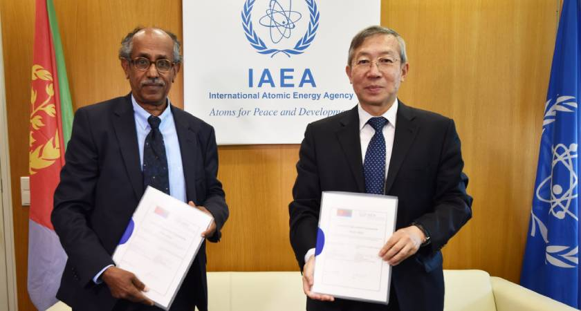 Eritrea and the International Atomic Energy Agency (IAEA) signed Country Program Framework (CPF) for the period of 2019–2023.