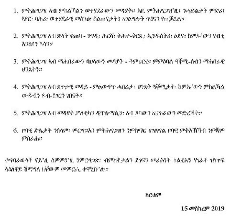 A Six-point Eritrea-Sudan Joint Communique
